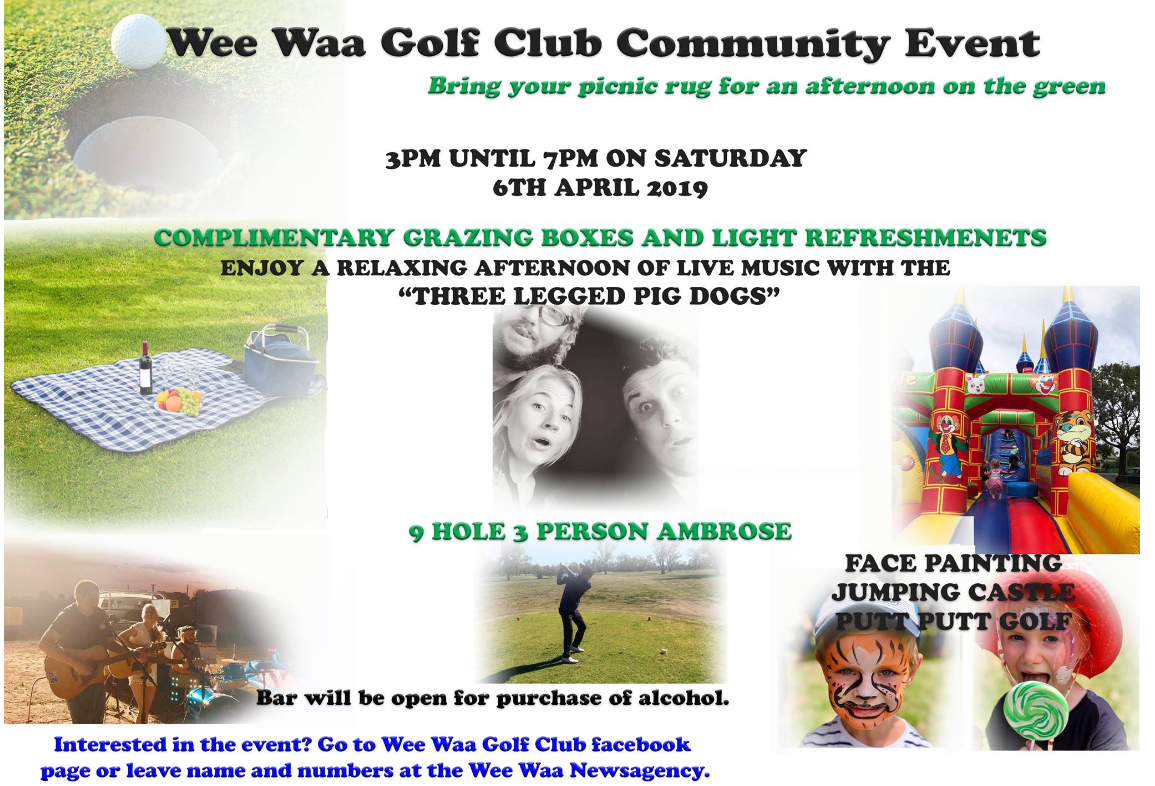 Wee Waa Golf Club Community Event.